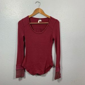 We The Free Waffle Knit Snap Button Cuff Thermal